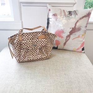Coach Leah Brown Signature Shopper Tote Bag